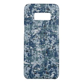 Décor de camouflage de Digitals de bleu marine sur Coque Case-Mate Samsung Galaxy S8