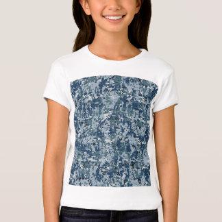 Décor de camouflage de Digitals de bleu marine T-shirt