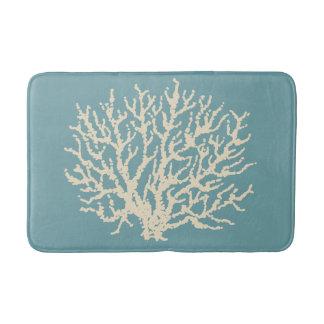 Décor de corail de couverture de salle de bains de tapis de bain