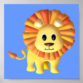 Décor de crèche de lion de bébé posters