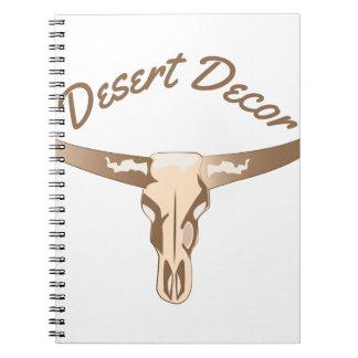 Décor de désert carnet