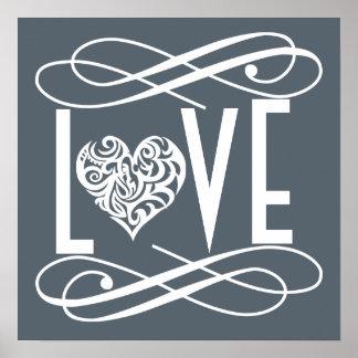 Décor de siège social d'amour poster
