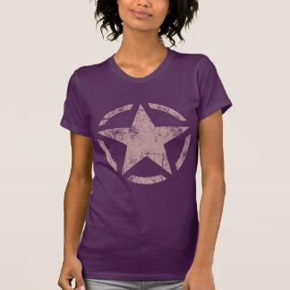 Décor de style de pochoir d'étoile t-shirt