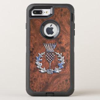 Décor écossais de chardon de gris argenté sur a coque otterbox defender pour iPhone 7 plus