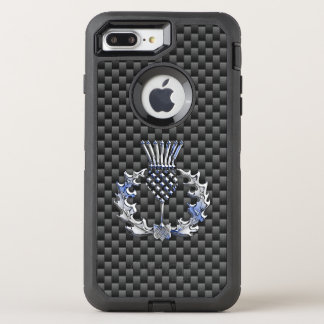Décor écossais de chardon sur a coque otterbox defender pour iPhone 7 plus
