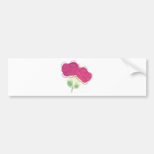 Décor floral de roses autocollants pour voiture