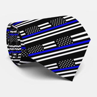 Décor mince américain de graphique de Blue Line Cravates