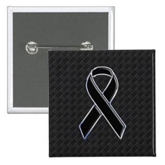 Décor noir de conscience de ruban de chrome badge carré 5 cm