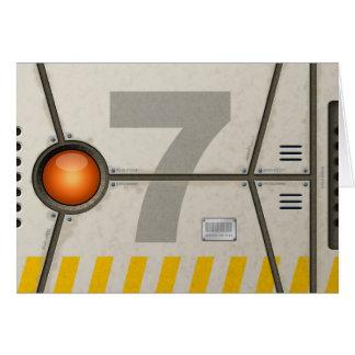 Décor sci-fi carte de vœux