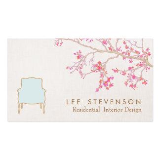 Décorateur français d'échafaudage de chaise de des cartes de visite personnelles