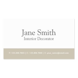 Décorateur professionnel élégant de design d'intér cartes de visite personnelles