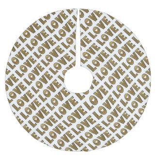 Décoratif d'or élégant de mot des textes d'or jupon de sapin en polyester brossé