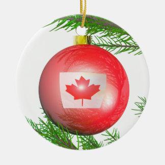 Décoration canadienne d'arbre de Noël Ornement Rond En Céramique