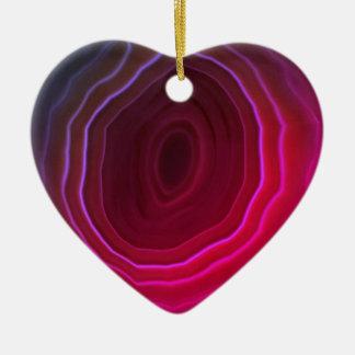 Décoration d'arbre de Noël de coeur de rose de Ornement Cœur En Céramique