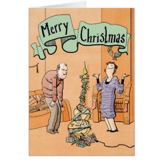 Décoration de guitare de carte de Noël