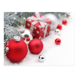 Décoration de Noël avec la branche de sapin Carte Postale