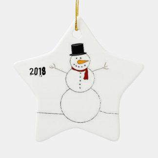 Décoration de Noël avec le bonhomme de neige