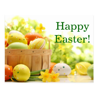 Décoration de Pâques avec des oeufs Carte Postale