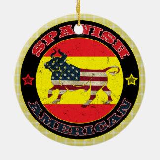 Décoration hispano-américaine de Taureau Ornement Rond En Céramique