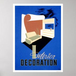 Décoration intérieure WPA 1940 Poster