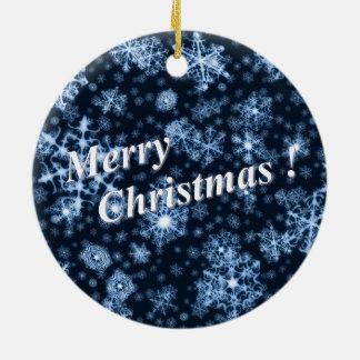 """Décoration """"Merry Christmas"""" Ornement Rond En Céramique"""