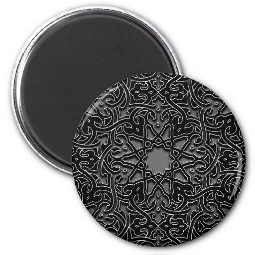Décoration monochrome fleurie magnets pour réfrigérateur