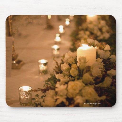 décorations 2 de table de mariage tapis de souris
