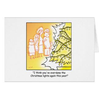 Décorations d'arbre de bande dessinée de Noël Carte De Vœux