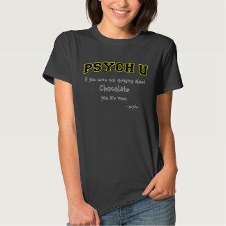 Découpe jaune PSYCH U, pensant au chocolat T-shirt