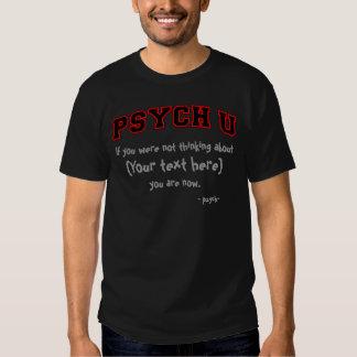 Découpe rouge PSYCH U votre texte T-shirts