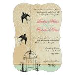 Découpez le mariage rustique de cage à oiseaux d'i bristol personnalisé