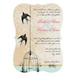 Découpez le mariage rustique de cage à oiseaux bristol personnalisé