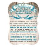 Découpez le mariage vintage rustique d'inséparable carton d'invitation  12,7 cm x 17,78 cm