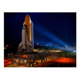 Découverte de navette spatiale la nuit cartes postales