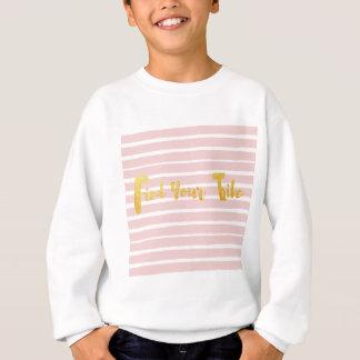découverte-votre-tribu-rose-rayure sweatshirt