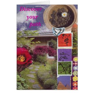Découvrez votre chemin carte de vœux