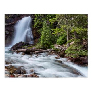 Découvrir tombe en parc national de glacier, carte postale