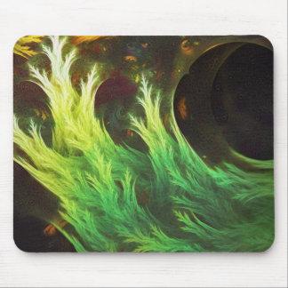 DeepDream d'une algue de couleurs fanées d'automne Tapis De Souris
