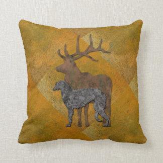 Deerhound & deer coussin