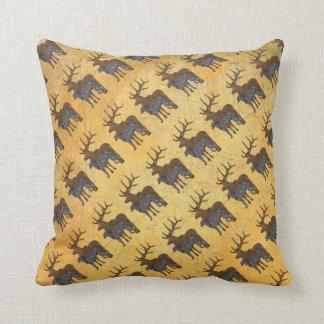 Deerhound & deer coussin décoratif