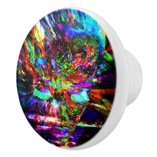 Déesse abstraite bouton de porte en céramique