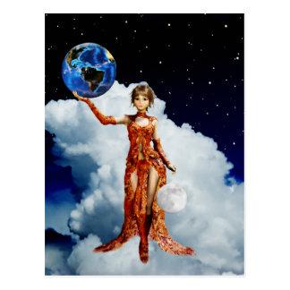 Déesse de carte postale d'univers
