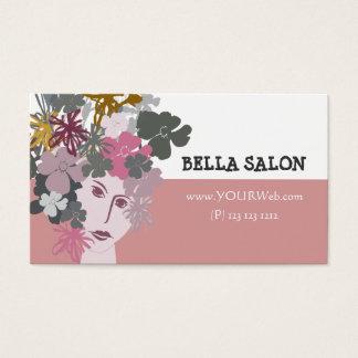 Déesse de floraison de beauté féminine cartes de visite