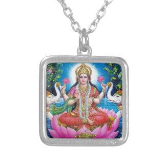 Déesse de Lakshmi de l'amour, de la prospérité, et Pendentif Carré