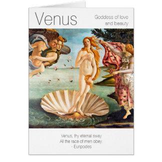 Déesse de Vénus de l'amour et de la beauté Cartes