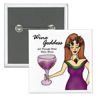 """Déesse de vin """"que toutes les choses guérissent… """" badge"""