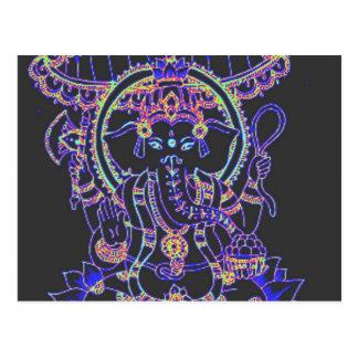 Déesse d'éléphant de Ganesha Cartes Postales
