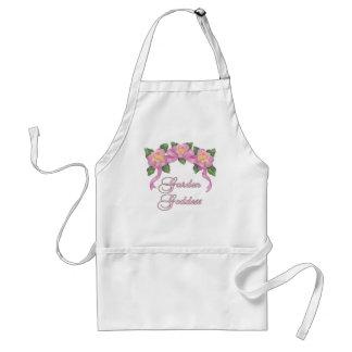 Déesse rose de jardin de bannière tablier