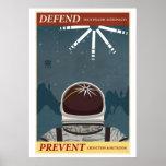 Défendez vos astronautes semblables posters