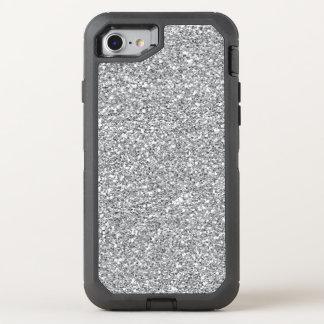 Défenseur de l'iPhone 7 de scintillement d'argent Coque OtterBox Defender iPhone 8/7